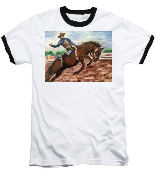 Cowboy In A Rodeo Baseball T-Shirt