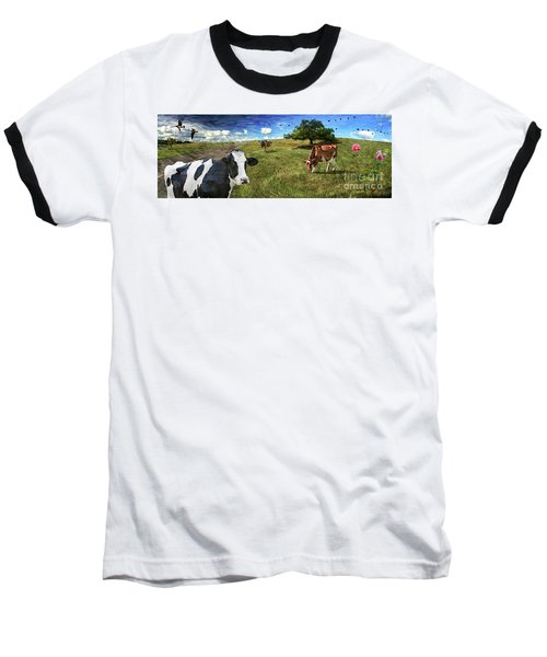 Cows In Field, Ver 3 Baseball T-Shirt