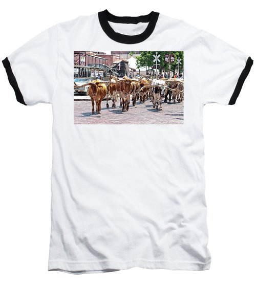 Cowtown Stockyards Baseball T-Shirt