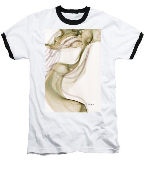 Coy Lady In Hat Swirls Baseball T-Shirt