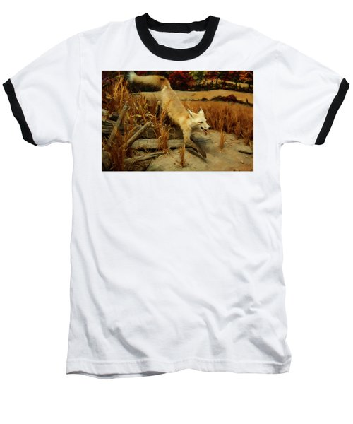 Baseball T-Shirt featuring the digital art Coyote  by Chris Flees