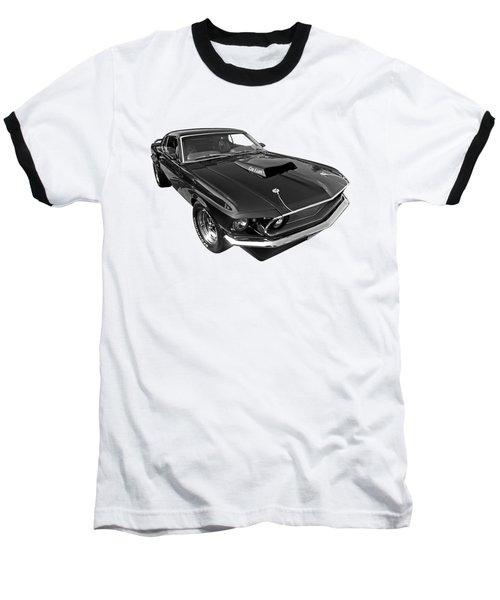 Coz I Can Black And White Baseball T-Shirt by Gill Billington