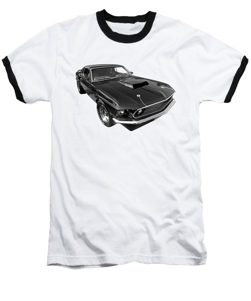 Coz I Can Black And White Baseball T-Shirt