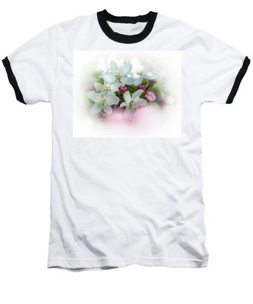 Crabapple Blossoms 3 - Baseball T-Shirt