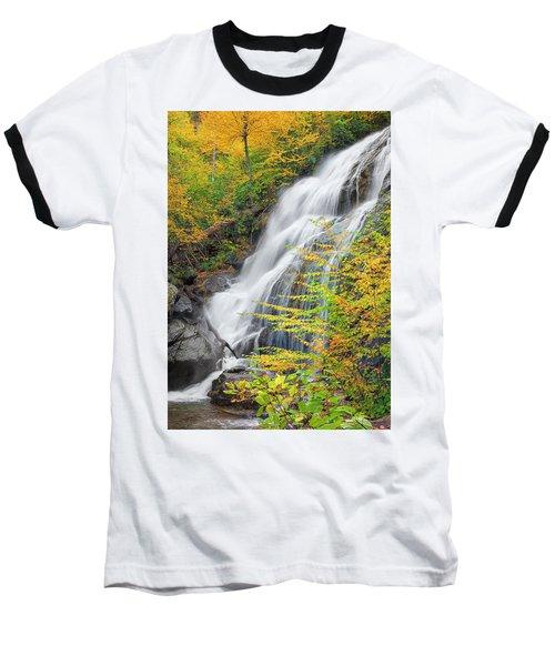Crabtree Falls In The Fall Baseball T-Shirt by David Cote