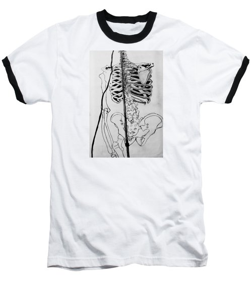 Crackling Bones Baseball T-Shirt by Jean Haynes