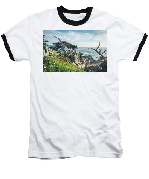 Baseball T-Shirt featuring the photograph Craggy Coast by Margaret Pitcher