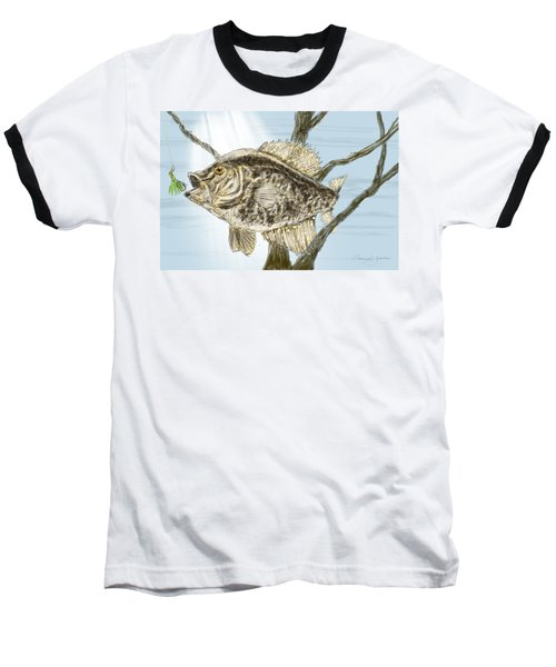 Crappie Time - 2 Baseball T-Shirt