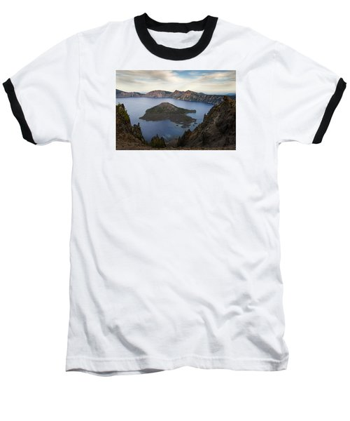 Crater Lake At Sunset Baseball T-Shirt