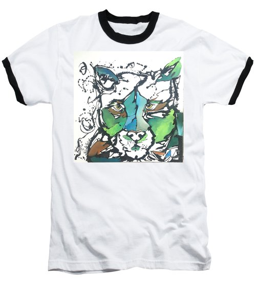 Baseball T-Shirt featuring the painting Creep by Nicole Gaitan
