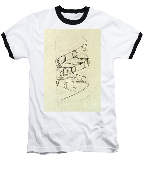 Cricks Original Dna Sketch Baseball T-Shirt