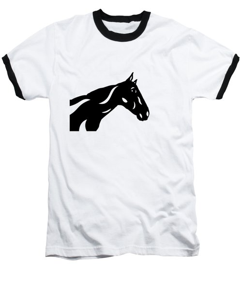 Crimson - Abstract Horse Baseball T-Shirt