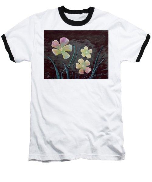 Crimson Flower Baseball T-Shirt
