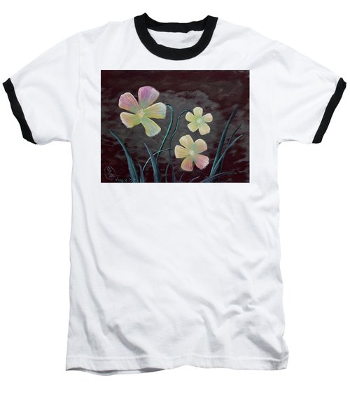 Crimson Flower Baseball T-Shirt