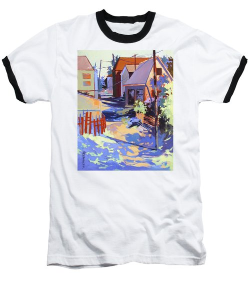 Baseball T-Shirt featuring the painting Crisscross by Rae Andrews