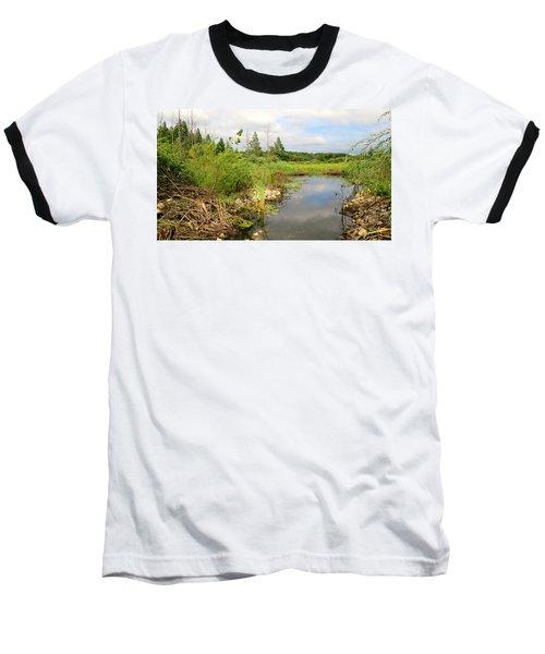 Crooked Creek Preserve Baseball T-Shirt by Kimberly Mackowski