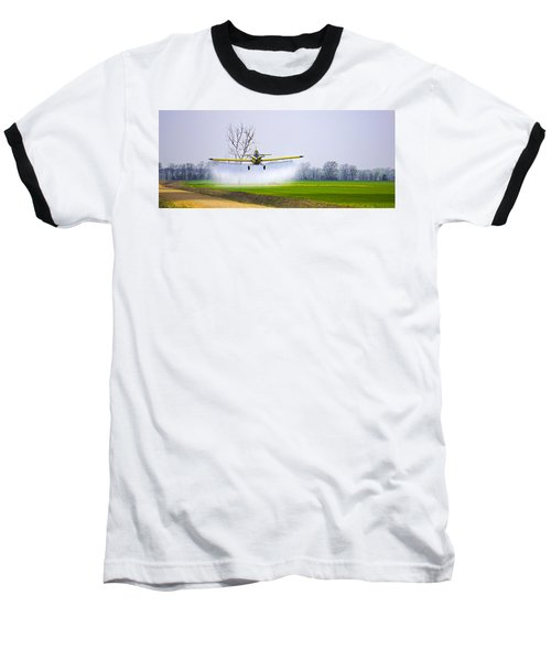 Precision Flying - Crop Dusting 1 Of 2 Baseball T-Shirt by Charlie Brock
