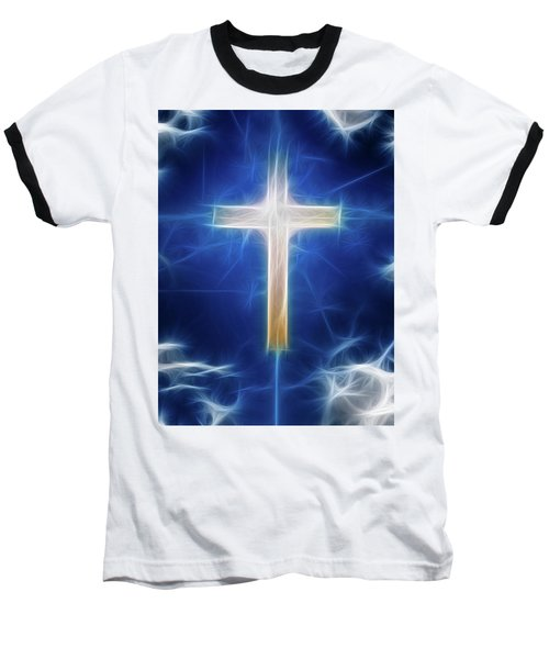 Cross Abstract Baseball T-Shirt by Bruce Rolff