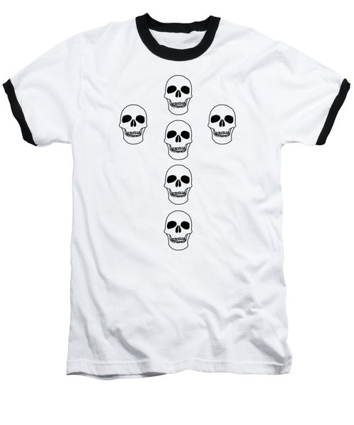Cross In Skulls Clothing And Decor Baseball T-Shirt by Linsey Williams