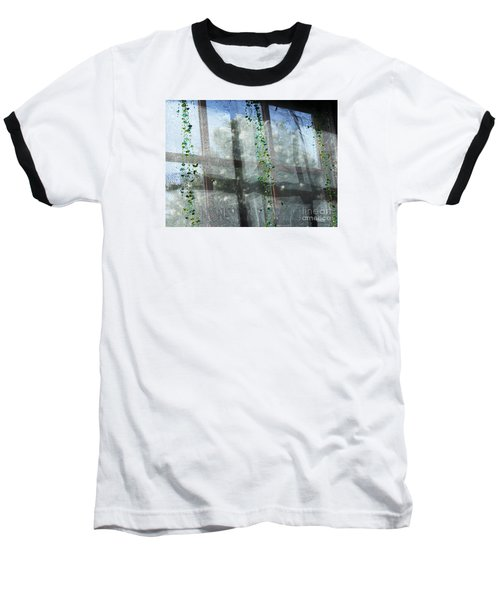 Baseball T-Shirt featuring the photograph Crosses In The Window by Cheryl Del Toro