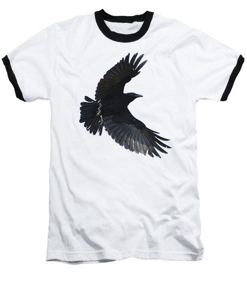 Crow In Flight Baseball T-Shirt
