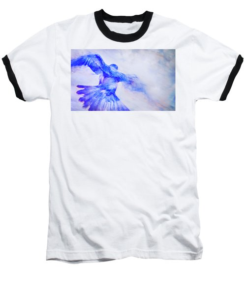 Baseball T-Shirt featuring the photograph Crow In Flight by Theresa Tahara