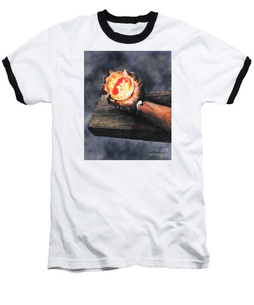 Baseball T-Shirt featuring the painting Crucifixion Version One Glen Concept by Dave Luebbert