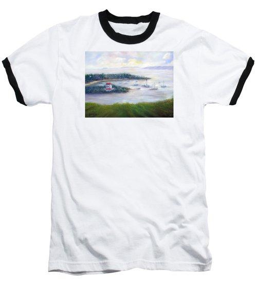 Cruz Bay Remembered Baseball T-Shirt by Loretta Luglio