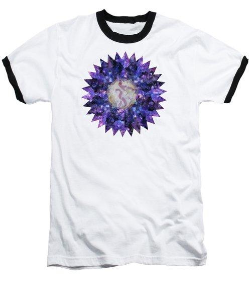 Crystal Magic Mandala Baseball T-Shirt by Leanne Seymour