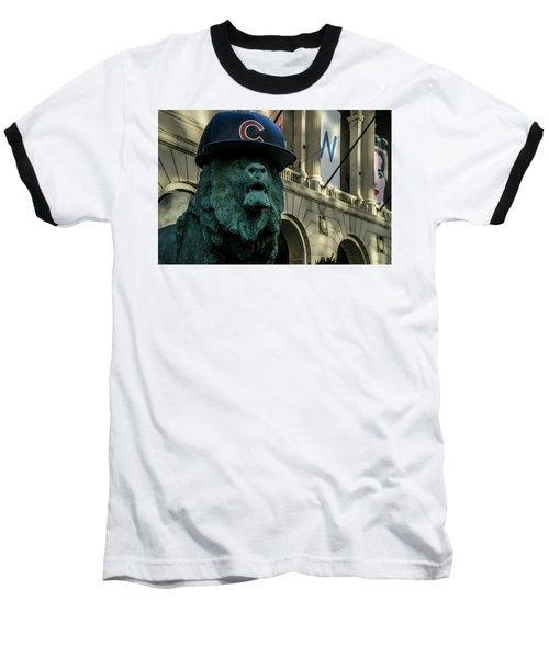 Cub Hat On Art Institute Lion Telephoto Baseball T-Shirt