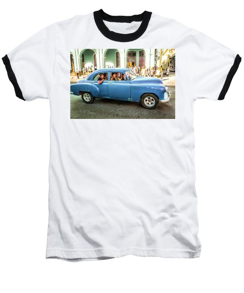 Cuban Taxi Baseball T-Shirt