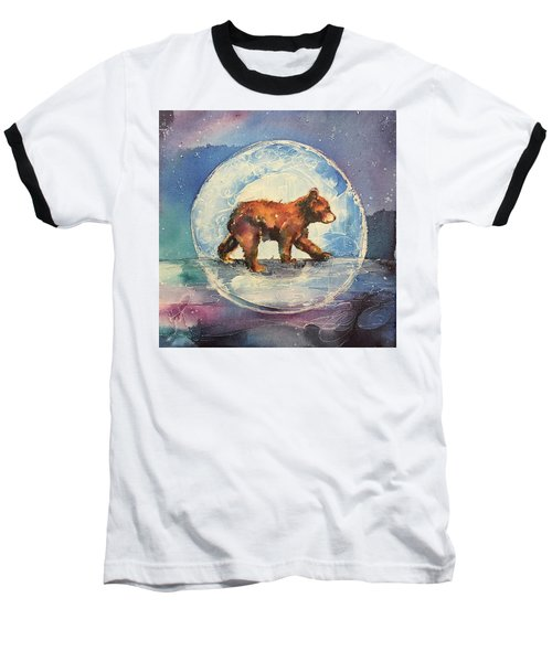 Baseball T-Shirt featuring the painting Cubbie Bear by Christy Freeman