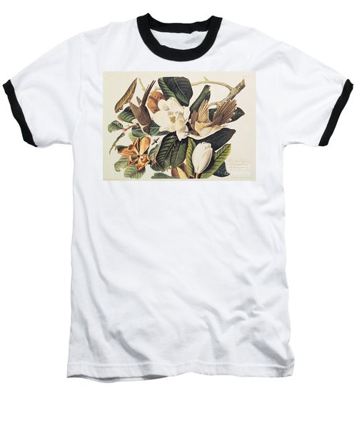 Cuckoo On Magnolia Grandiflora Baseball T-Shirt