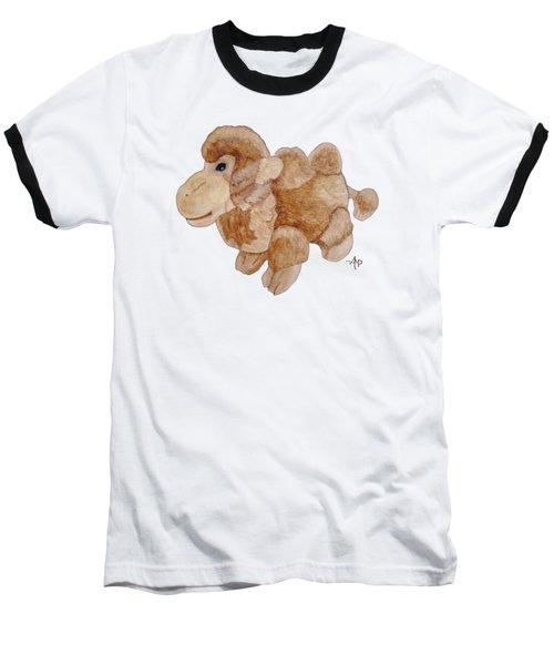Cuddly Camel Baseball T-Shirt by Angeles M Pomata