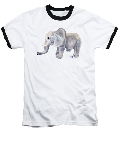 Cuddly Elephant II Baseball T-Shirt by Angeles M Pomata