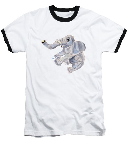 Cuddly Elephant IIi Baseball T-Shirt