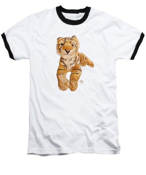 Cuddly Tiger Baseball T-Shirt by Angeles M Pomata