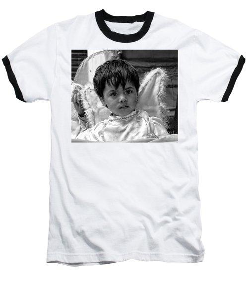 Baseball T-Shirt featuring the photograph Cuenca Kids 893 by Al Bourassa