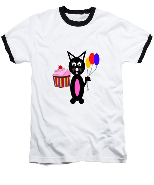 Cup Cake Party - Kids Cat Baseball T-Shirt