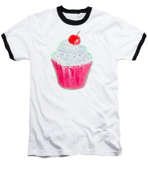 Cupcake Painting Baseball T-Shirt by Jan Matson