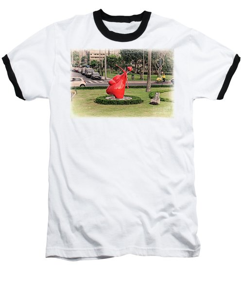 Baseball T-Shirt featuring the photograph Cupid's Heart  by Mary Machare