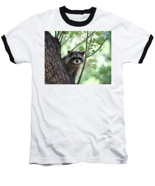 Baseball T-Shirt featuring the photograph Curious But Cautious by Doris Potter