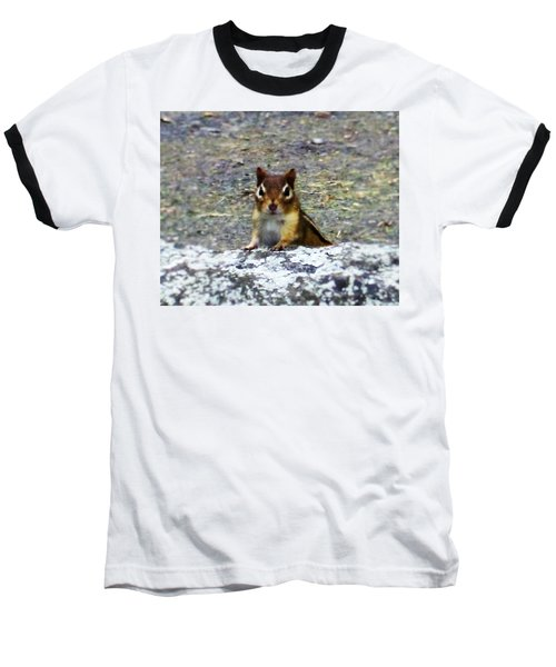 Curious Chipmunk Baseball T-Shirt