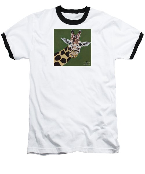 Curious Giraffe Baseball T-Shirt