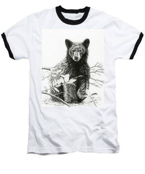 Curious Young Bear Baseball T-Shirt