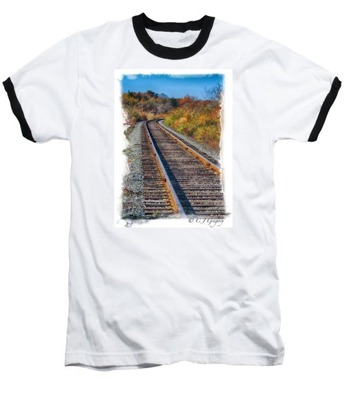 Baseball T-Shirt featuring the photograph Curved Track by Constantine Gregory