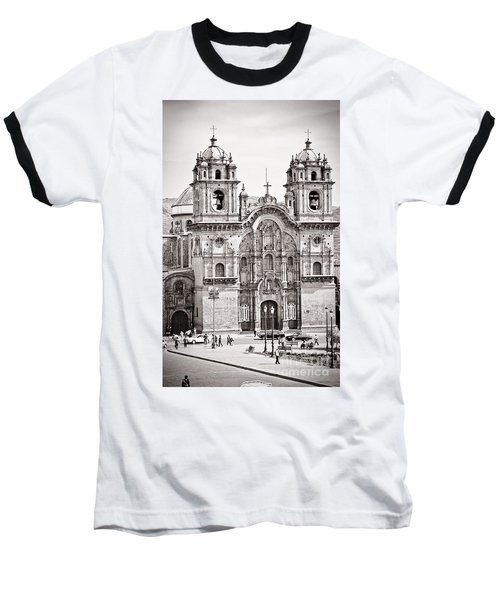 Cusco Cathedral Baseball T-Shirt by Darcy Michaelchuk