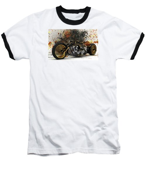 Custom Chopper Gold Baseball T-Shirt by Louis Ferreira