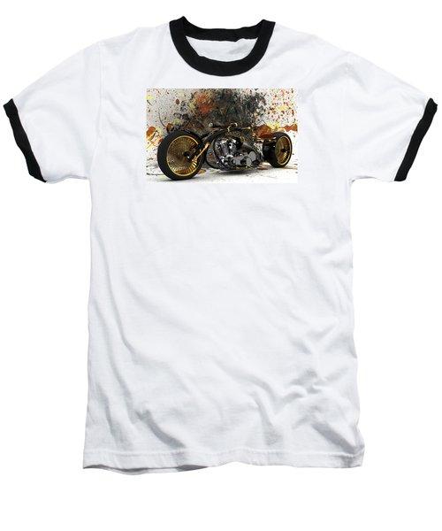 Custom Chopper Gold Baseball T-Shirt