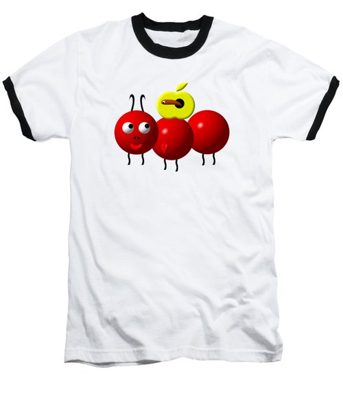Cute Ant With An Apple Baseball T-Shirt